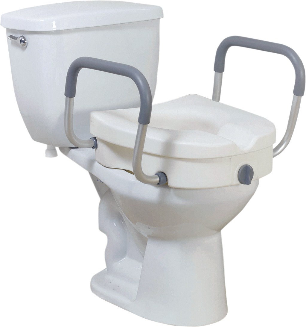 2 In 1 Toilet Seat.2 In 1 Locking Raised Toilet Seat With Tool Free Removable Arms